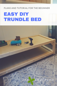 Diy Trundle Bed For The Beginner One Lifethyme
